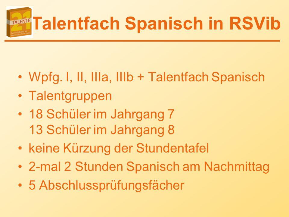 Talentfach Spanisch in RSVib