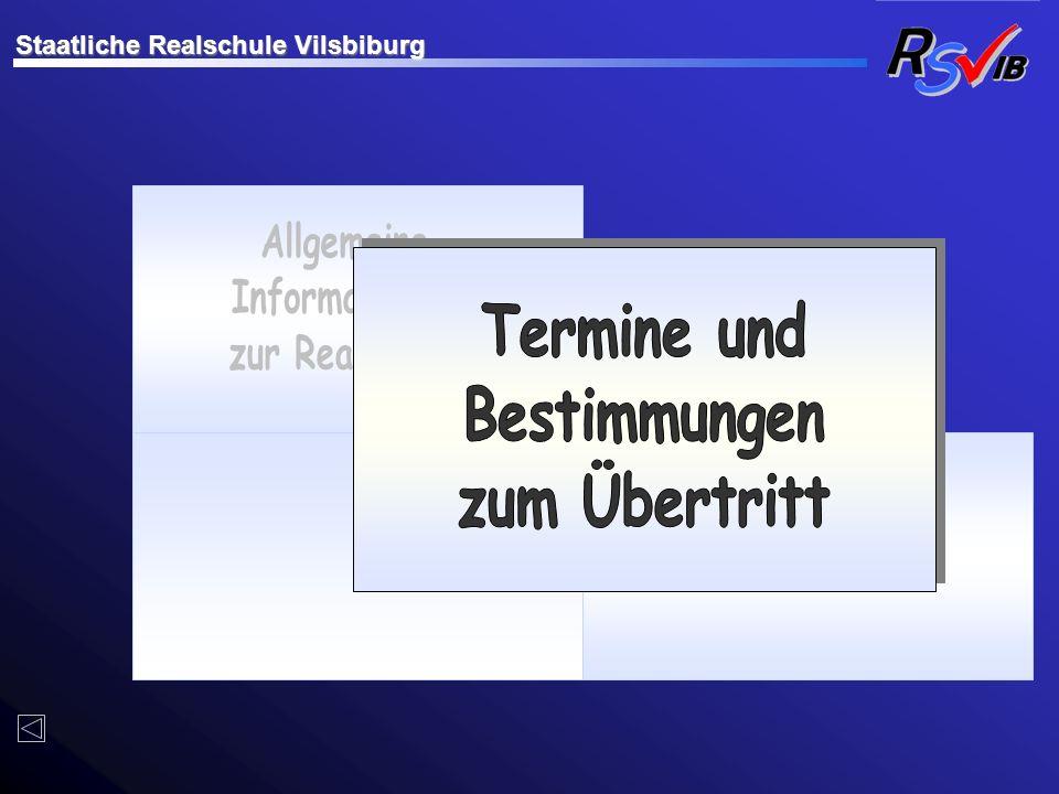 Allgemeine Informationen zur Realschule Termine und Bestimmungen