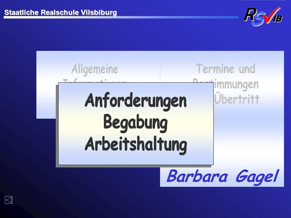 Barbara Gagel Allgemeine Informationen zur R6 Termine und Bestimmungen