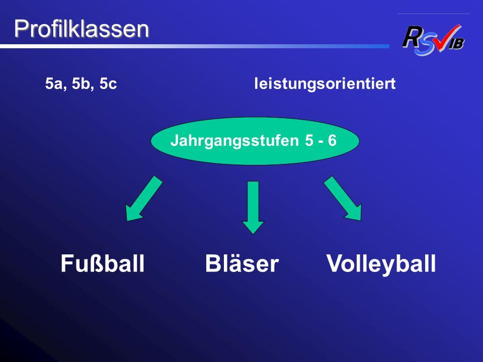 Profilklassen Fußball Bläser Volleyball 5a, 5b, 5c leistungsorientiert