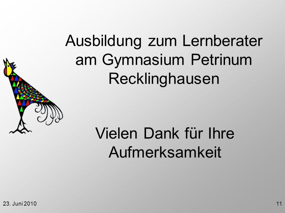 Ausbildung zum Lernberater am Gymnasium Petrinum Recklinghausen