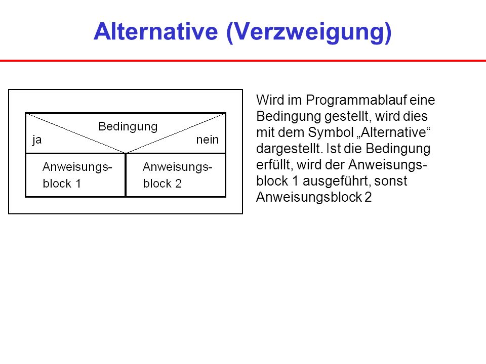 Alternative (Verzweigung)