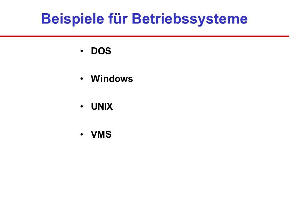 Beispiele für Betriebssysteme