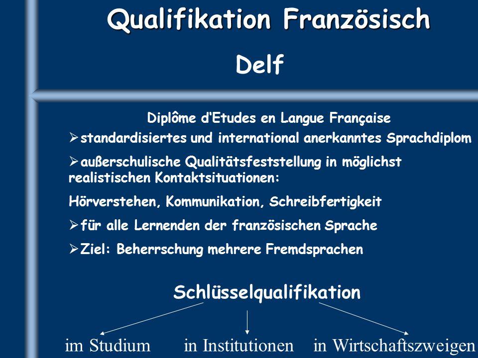 Qualifikation Französisch