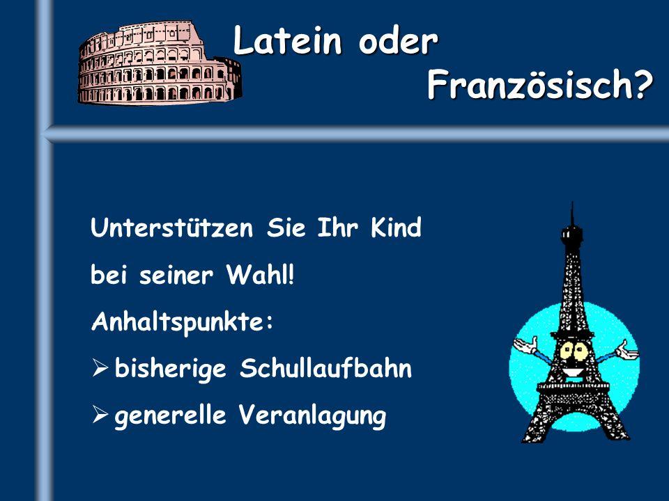 Latein oder Französisch