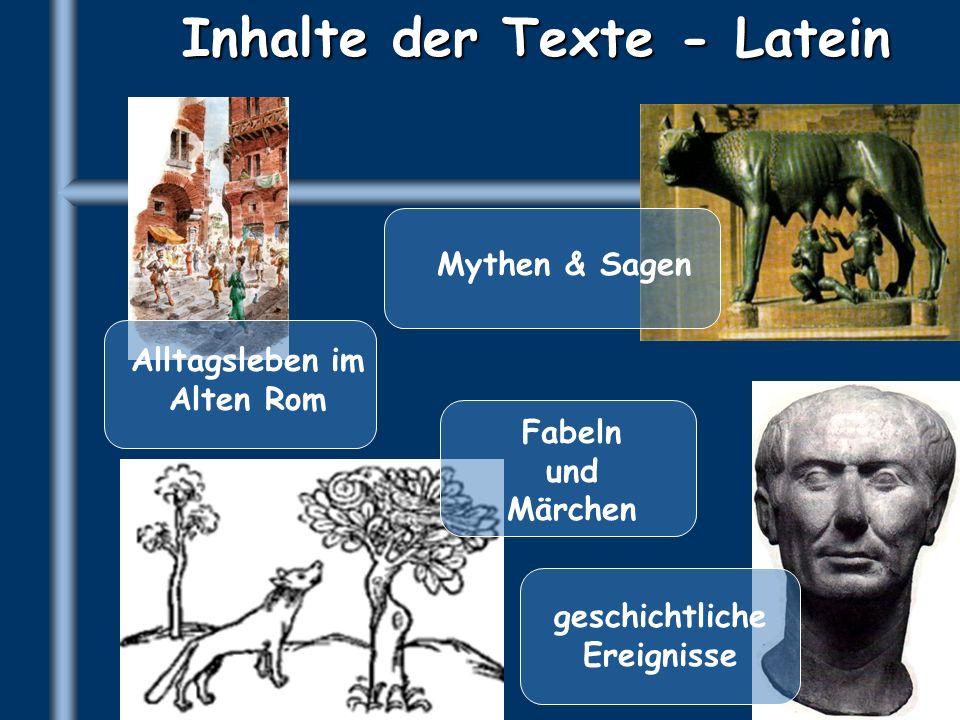 Inhalte der Texte - Latein