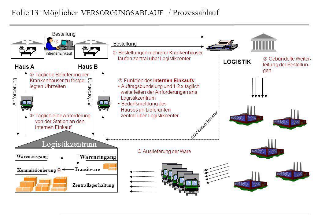 Folie 13: Möglicher VERSORGUNGSABLAUF / Prozessablauf