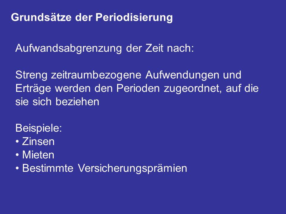 Grundsätze der Periodisierung