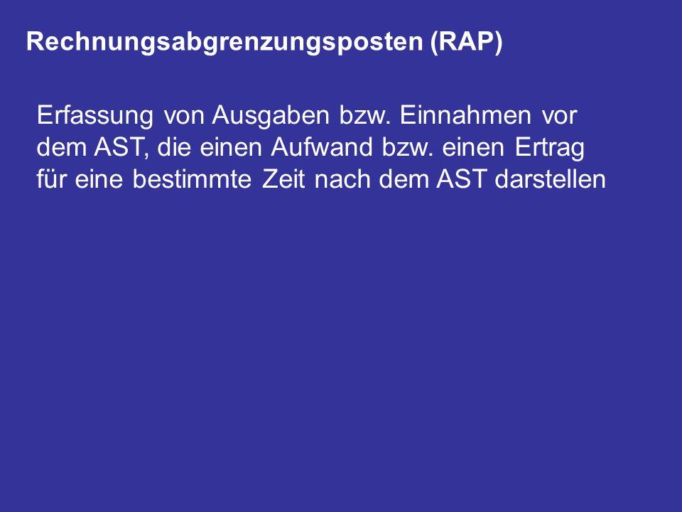 Rechnungsabgrenzungsposten (RAP)