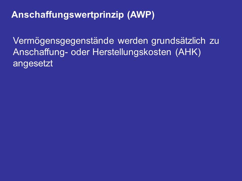 Anschaffungswertprinzip (AWP)