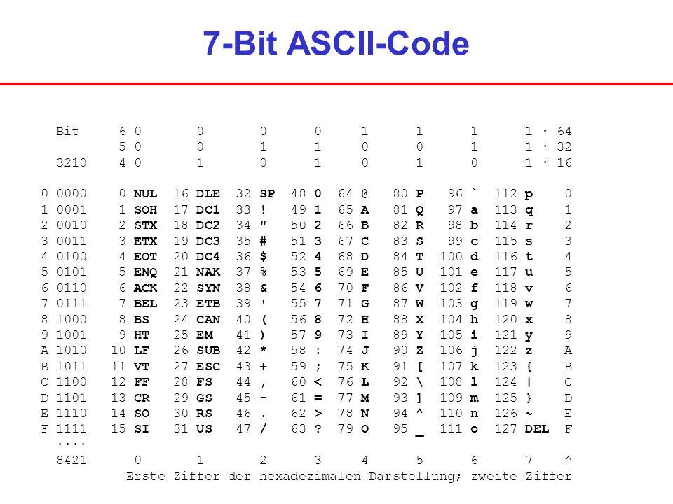 Logischen grundverkn pfungen ppt video online herunterladen for 7 bit ascii tabelle