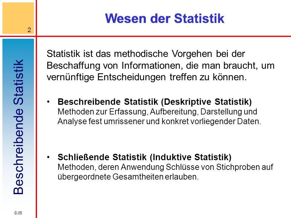 Wesen der Statistik Wesen der Statistik