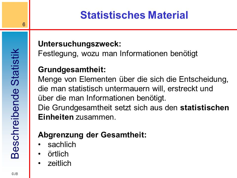 Statistisches Material