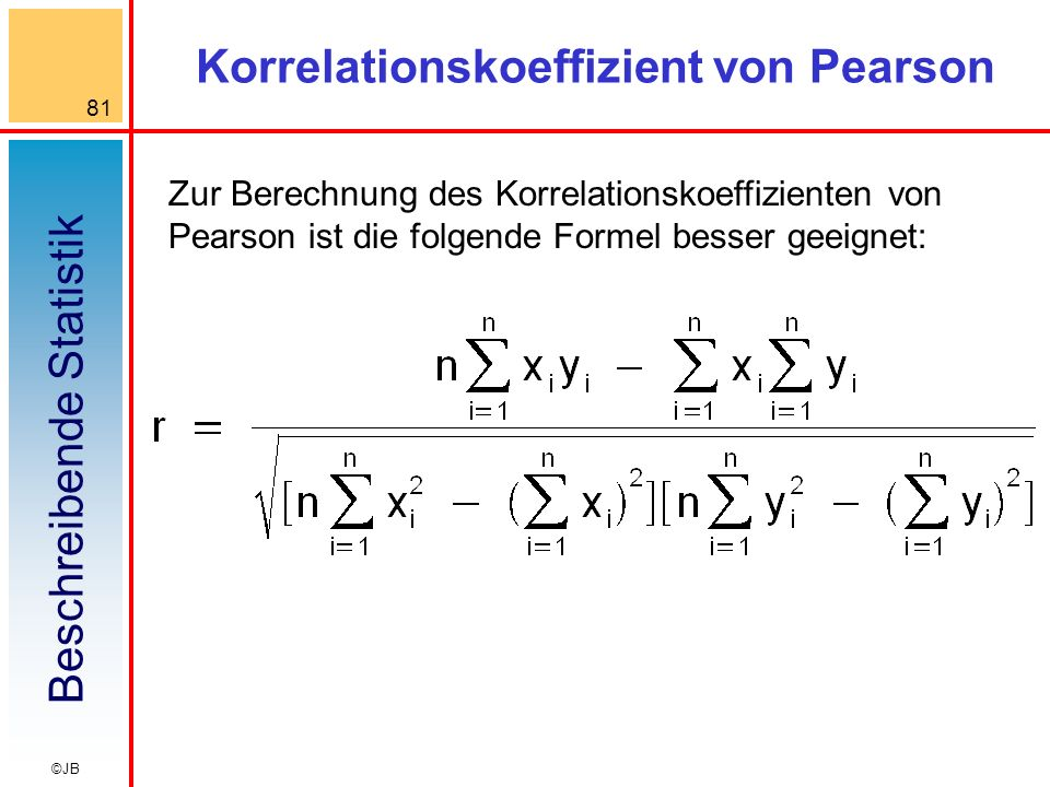 Korrelationskoeffizient von Pearson