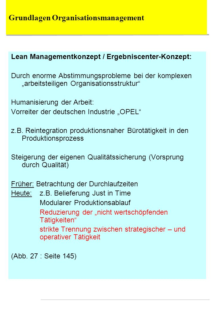 Grundlagen Organisationsmanagement