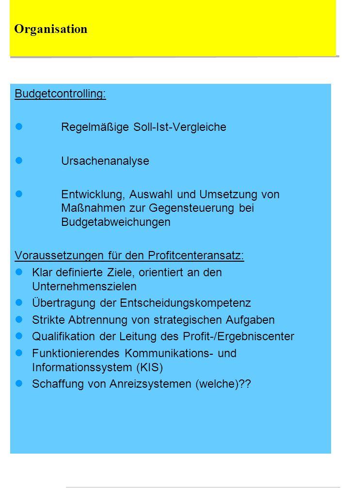 Organisation Budgetcontrolling: Regelmäßige Soll-Ist-Vergleiche