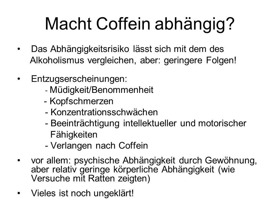 Macht Coffein abhängig