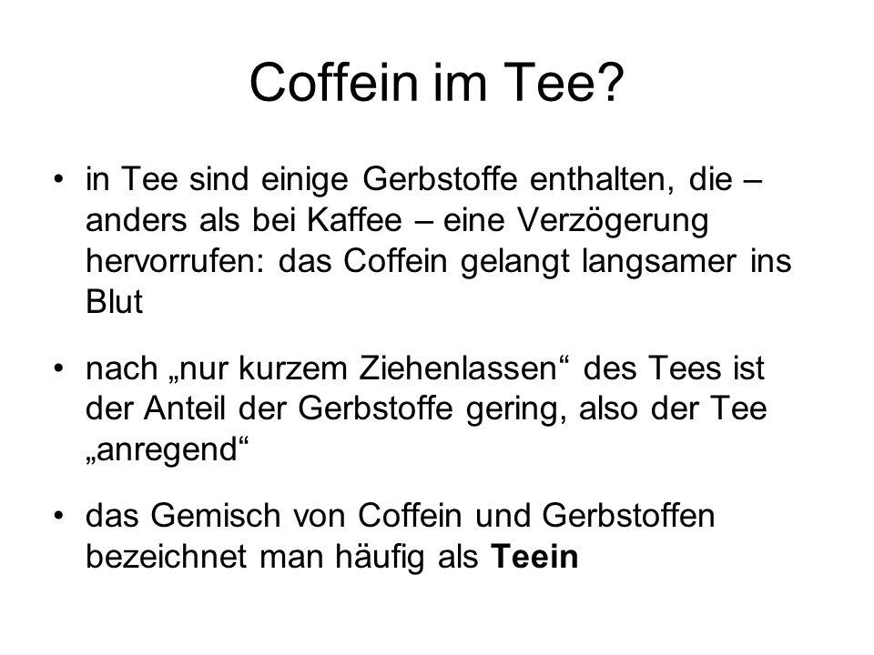 Coffein im Tee