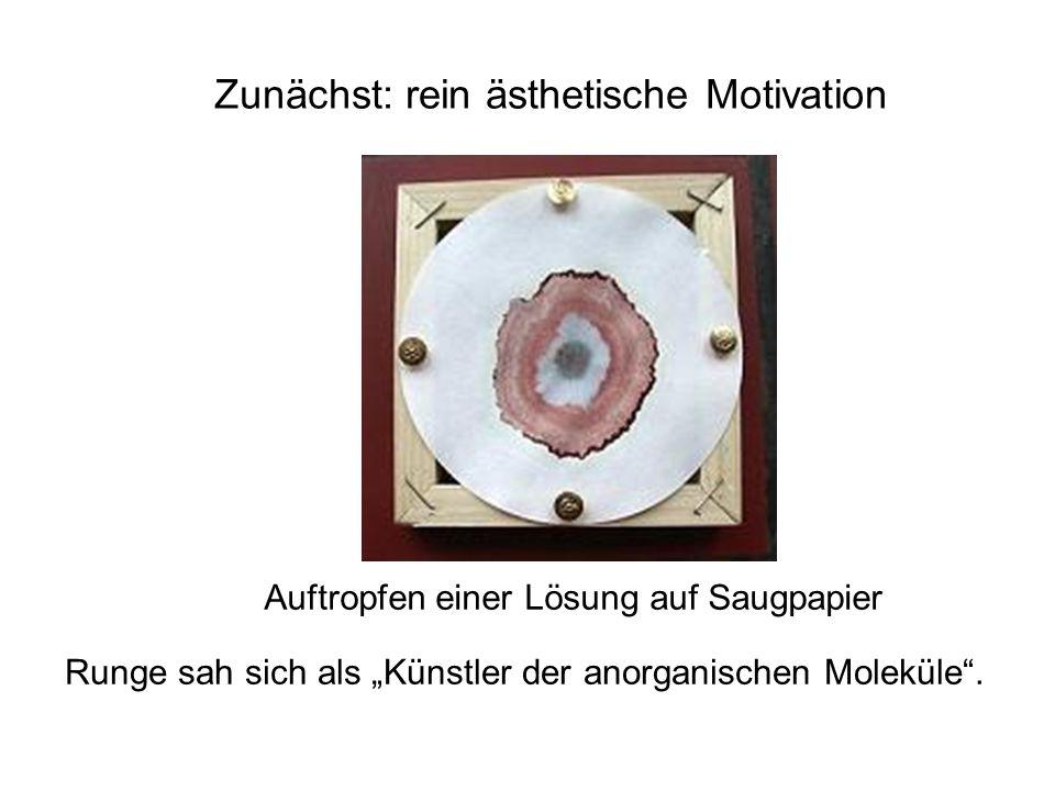 Zunächst: rein ästhetische Motivation