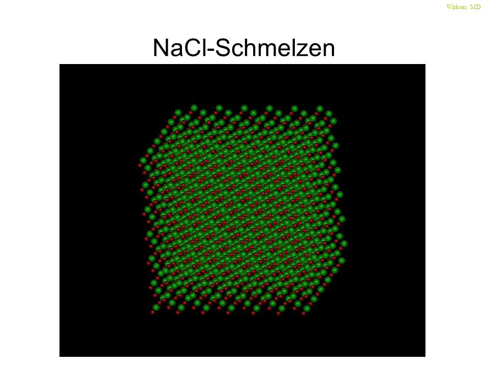 Wirken: MD NaCl-Schmelzen