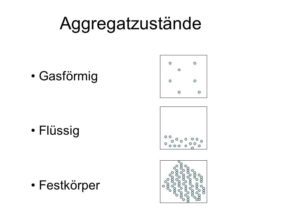 Gasförmig Flüssig Festkörper