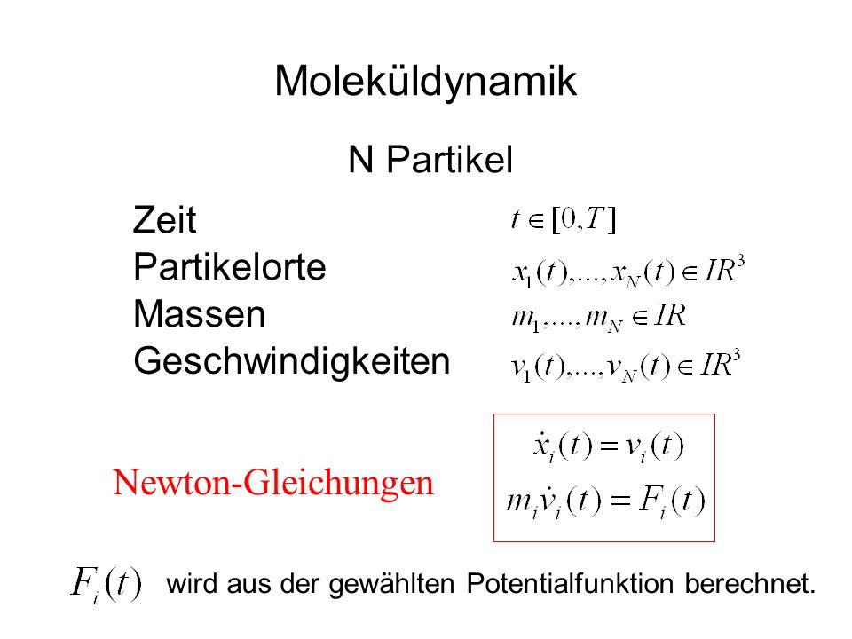 Moleküldynamik N Partikel Zeit Partikelorte Massen Geschwindigkeiten