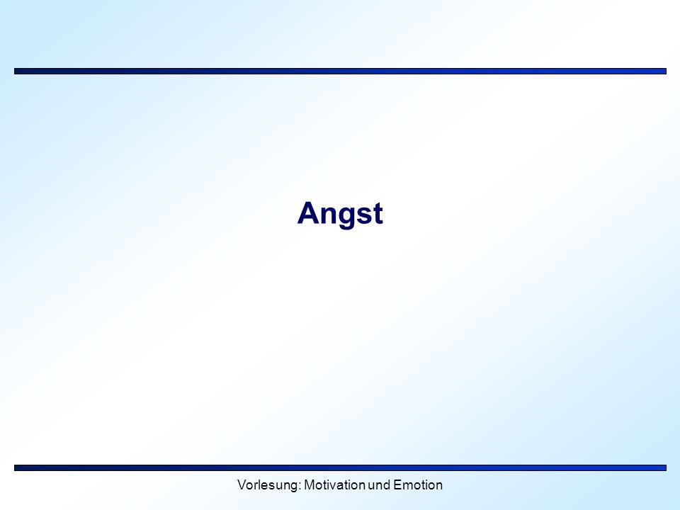 Vorlesung: Motivation und Emotion