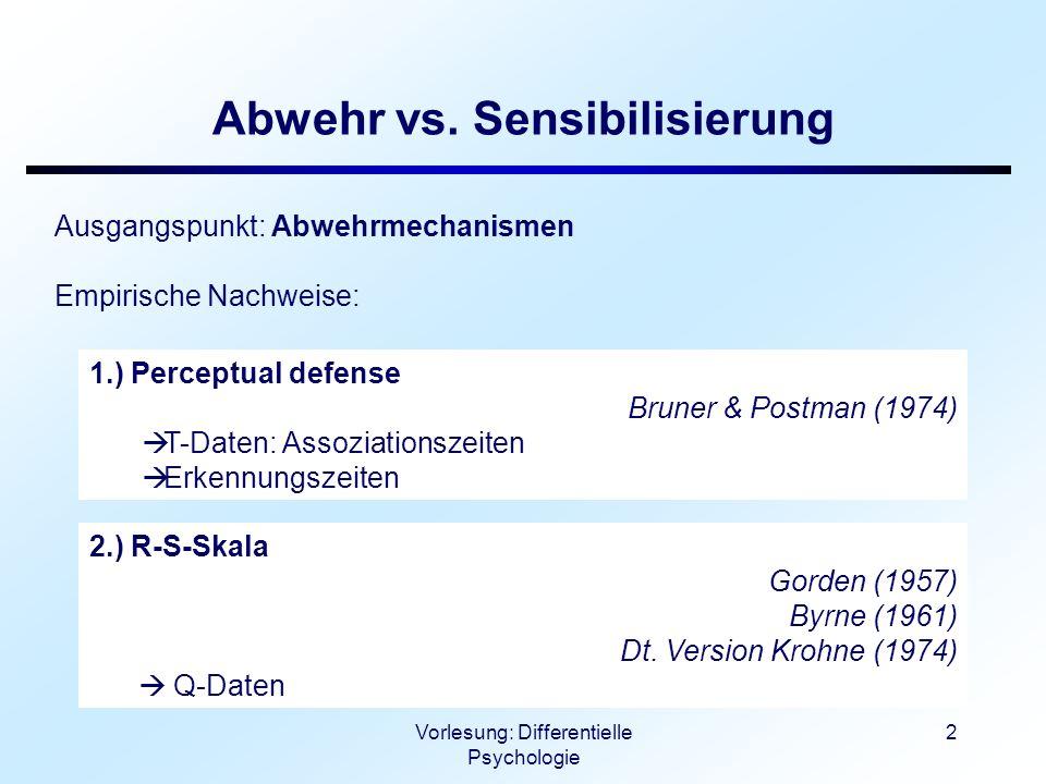 Abwehr vs. Sensibilisierung