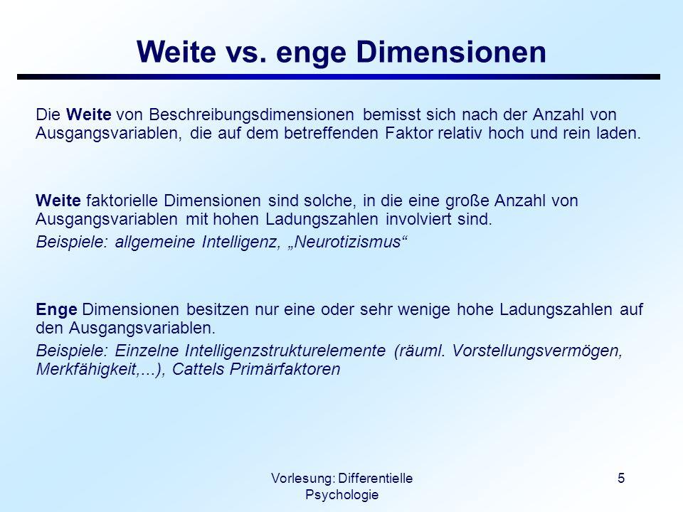 Weite vs. enge Dimensionen
