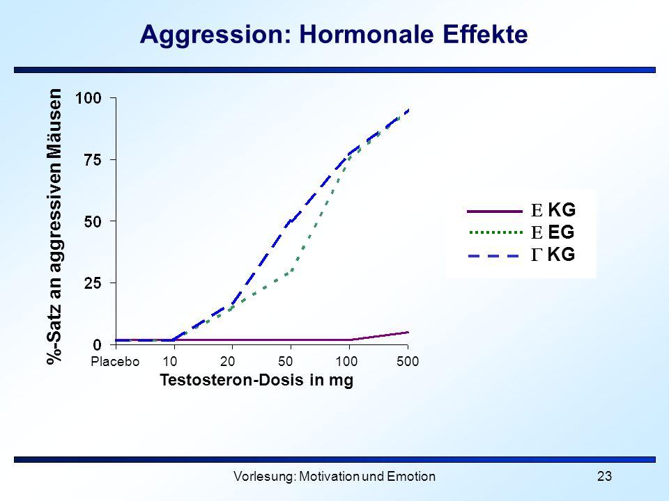 Aggression: Hormonale Effekte
