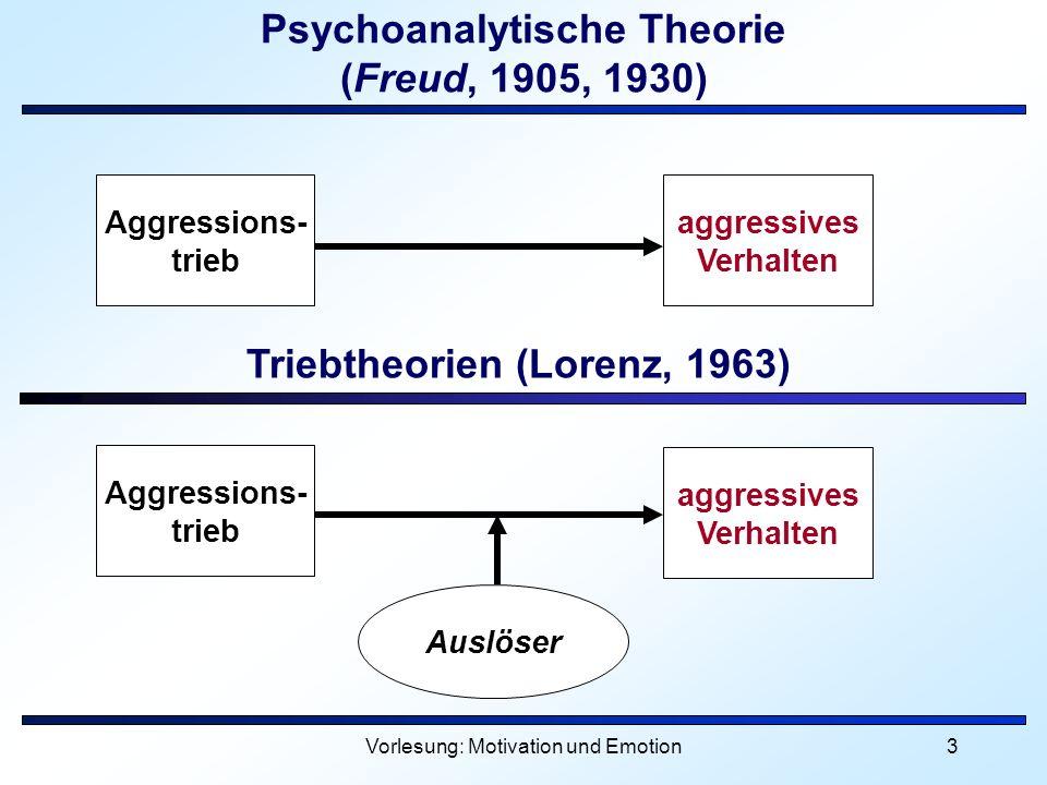 Psychoanalytische Theorie (Freud, 1905, 1930)