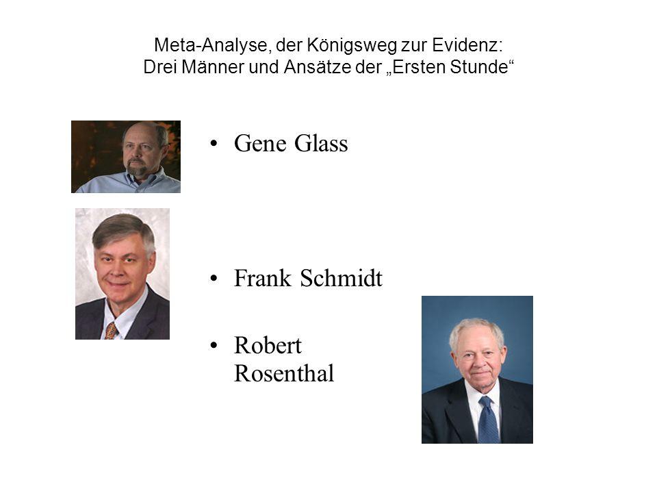Gene Glass Frank Schmidt Robert Rosenthal