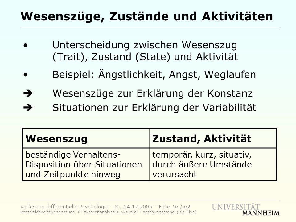 state trait angst modell