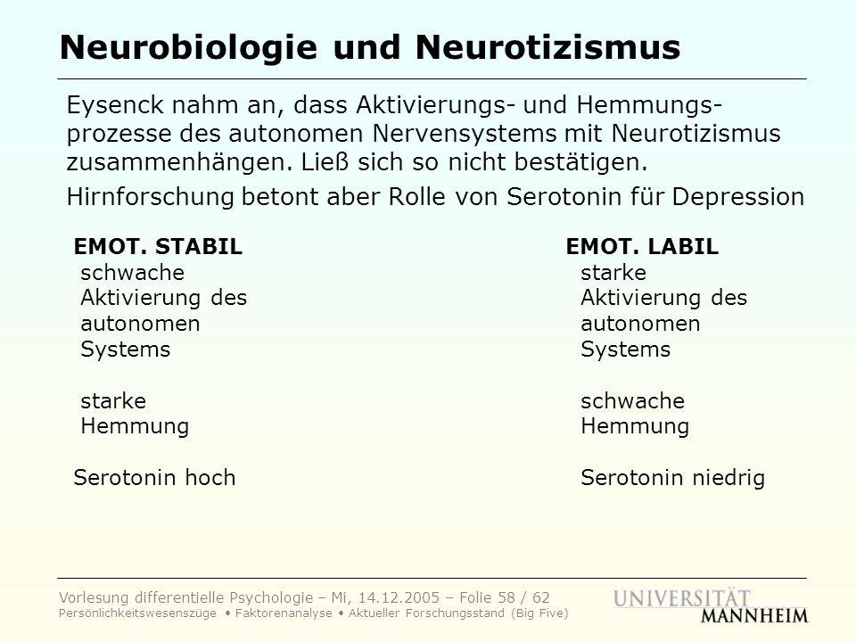 Neurobiologie und Neurotizismus