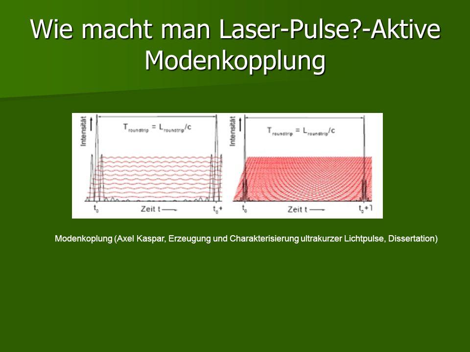 Wie macht man Laser-Pulse -Aktive Modenkopplung