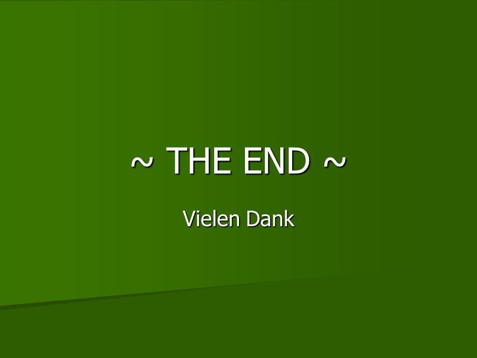~ THE END ~ Vielen Dank
