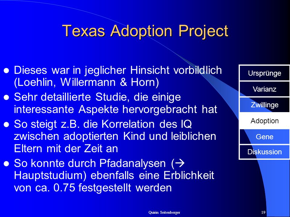 Texas Adoption Project