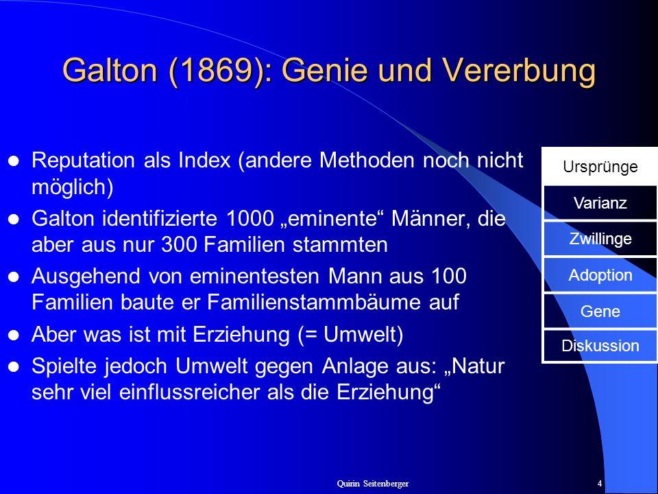 Galton (1869): Genie und Vererbung