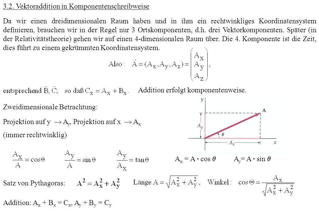 3.2. Vektoraddition in Komponentenschreibweise