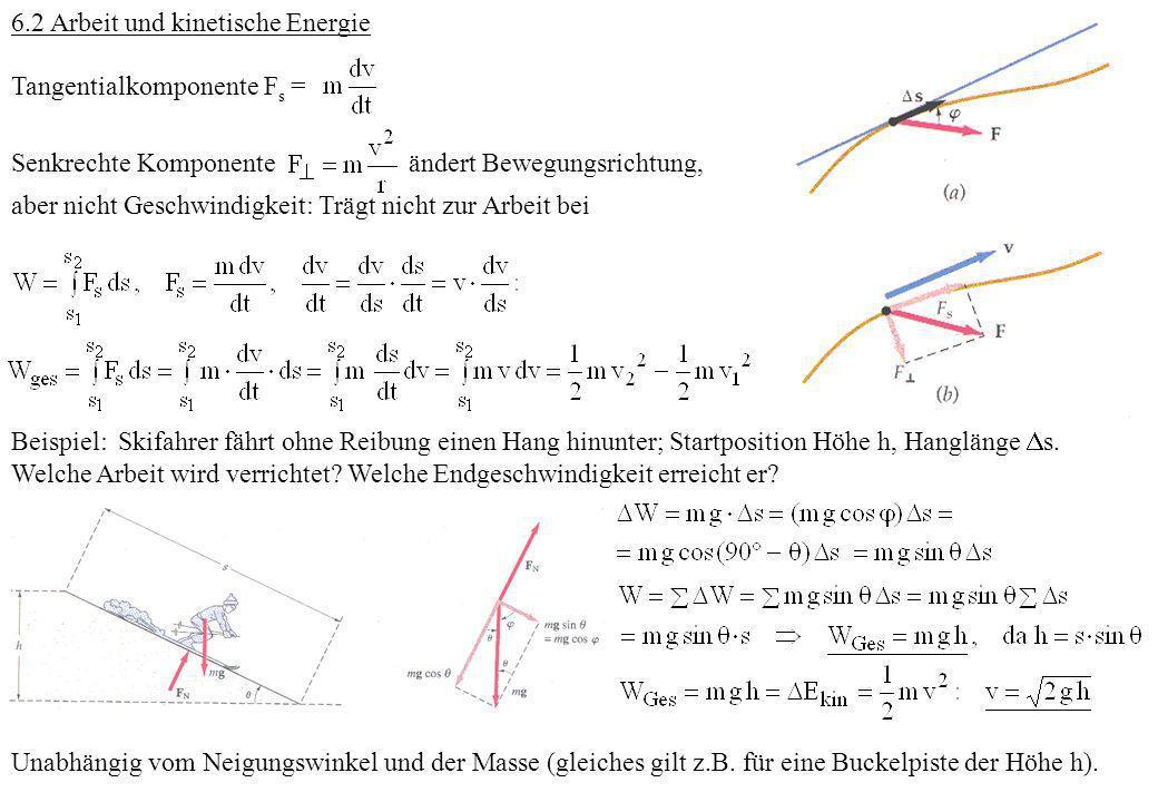 6.2 Arbeit und kinetische Energie