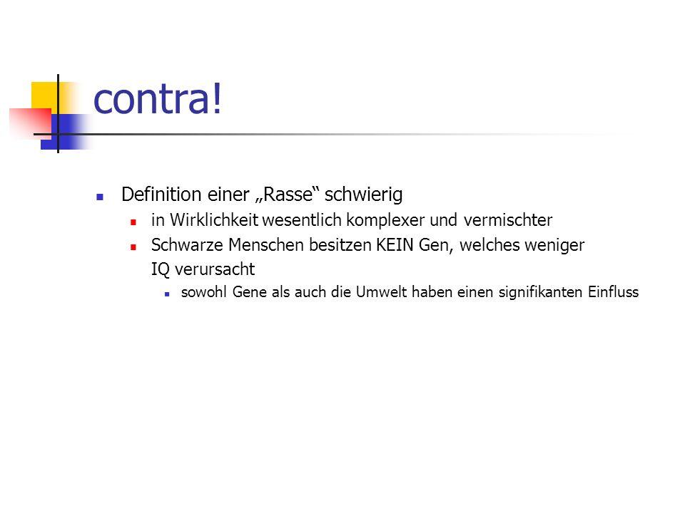"""contra! Definition einer """"Rasse schwierig"""