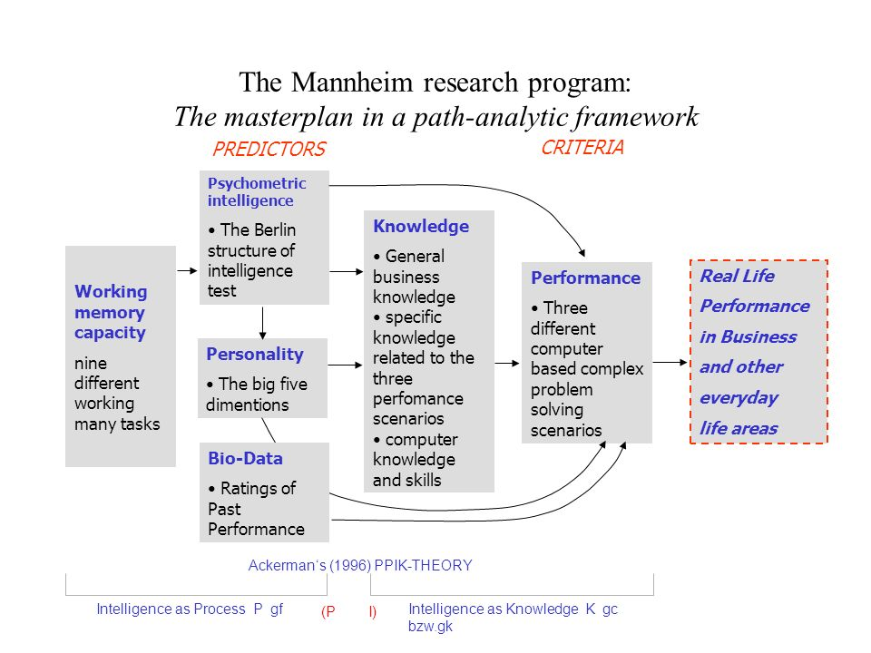 The Mannheim research program: The masterplan in a path-analytic framework