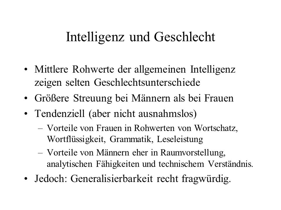 Intelligenz und Geschlecht