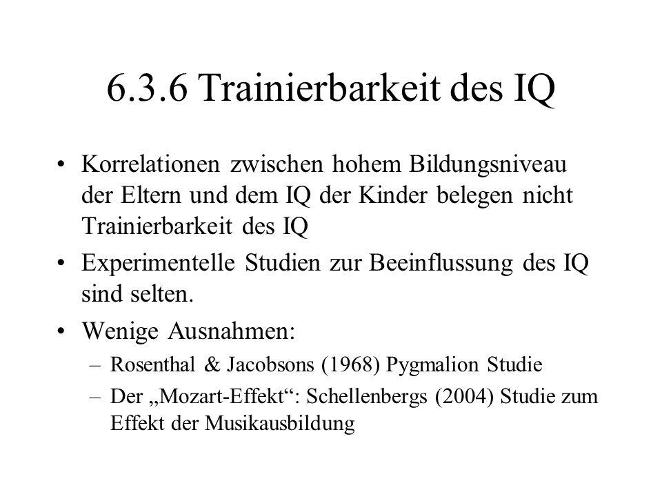 6.3.6 Trainierbarkeit des IQ