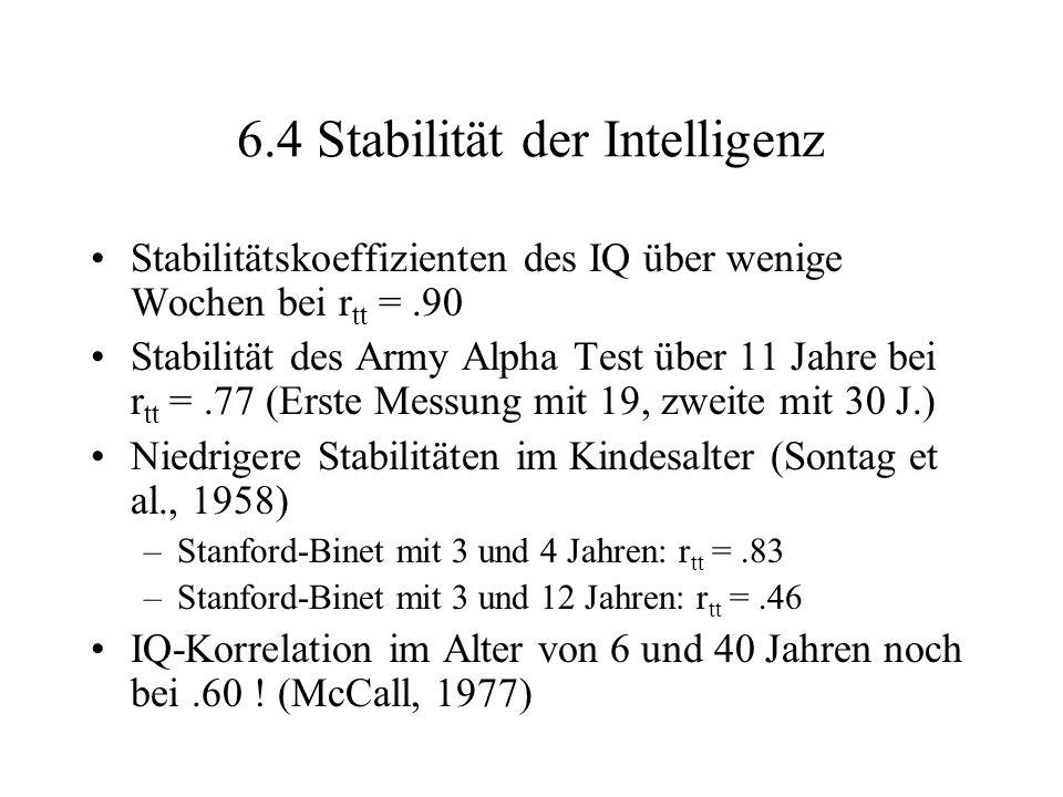 6.4 Stabilität der Intelligenz