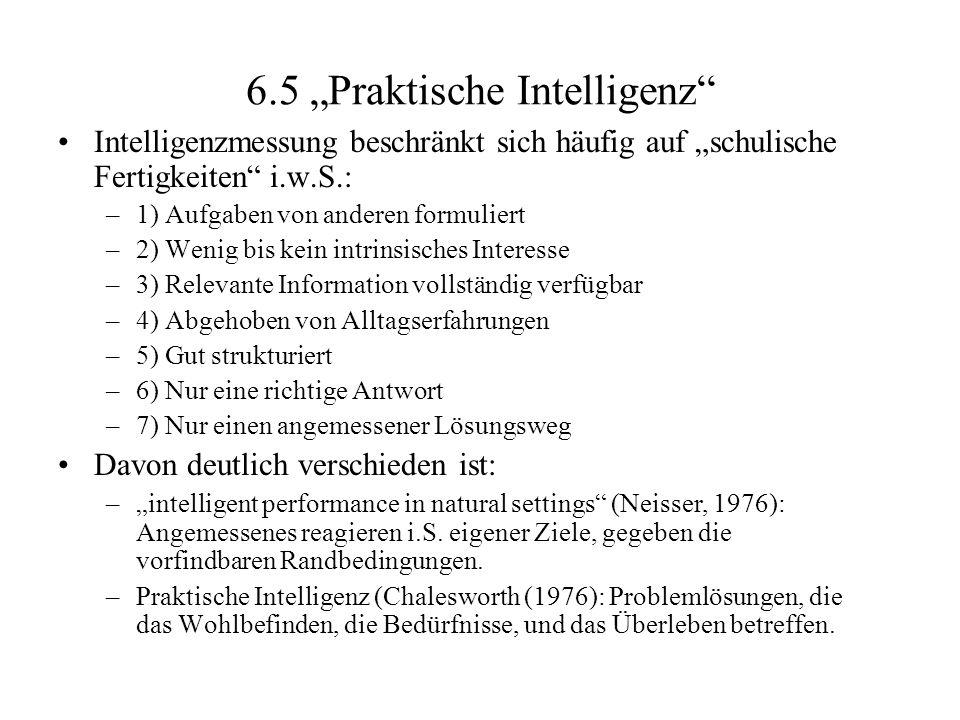 """6.5 """"Praktische Intelligenz"""