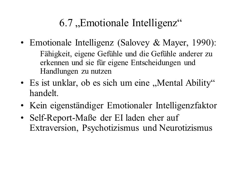 "6.7 ""Emotionale Intelligenz"