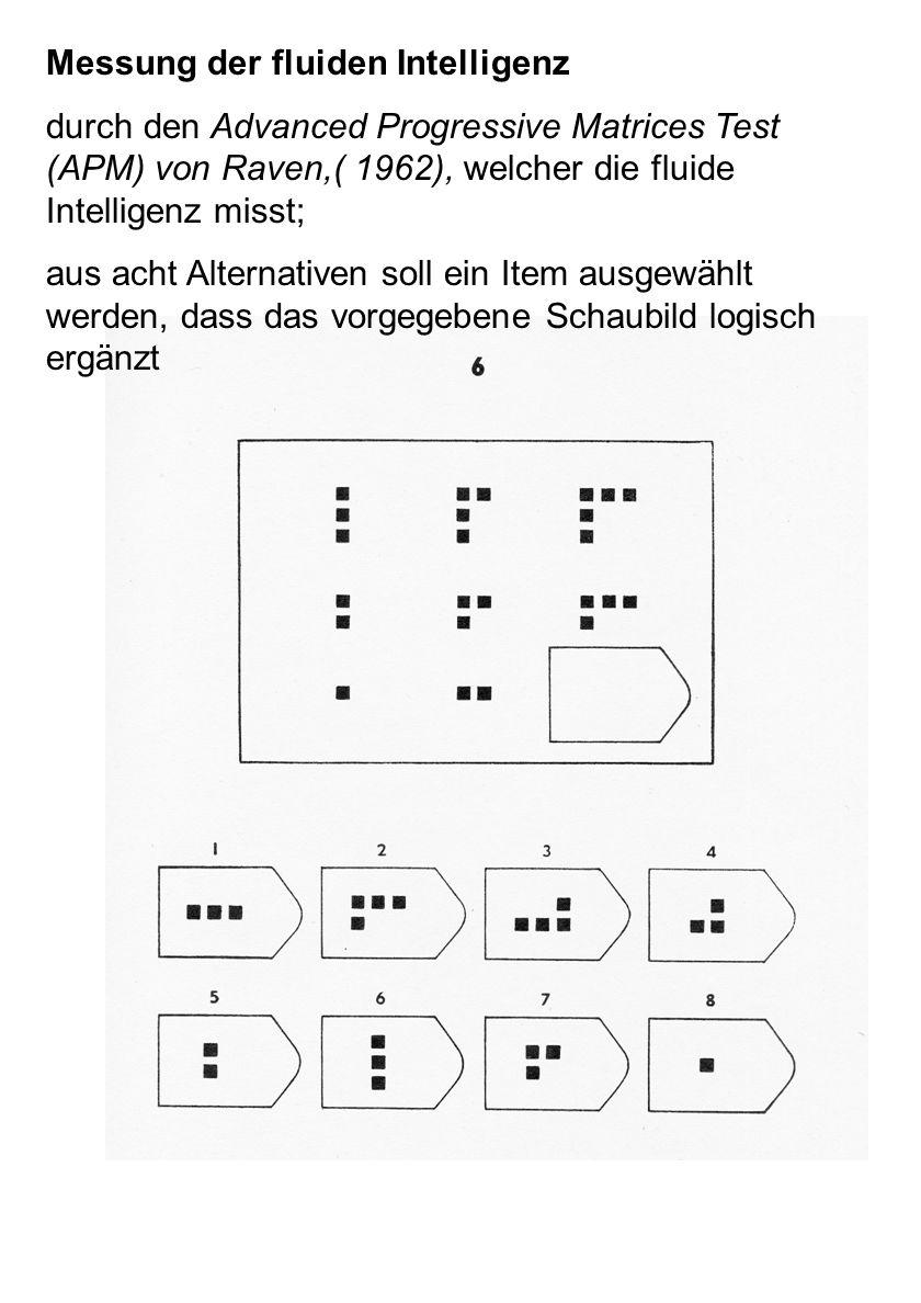 Messung der fluiden Intelligenz