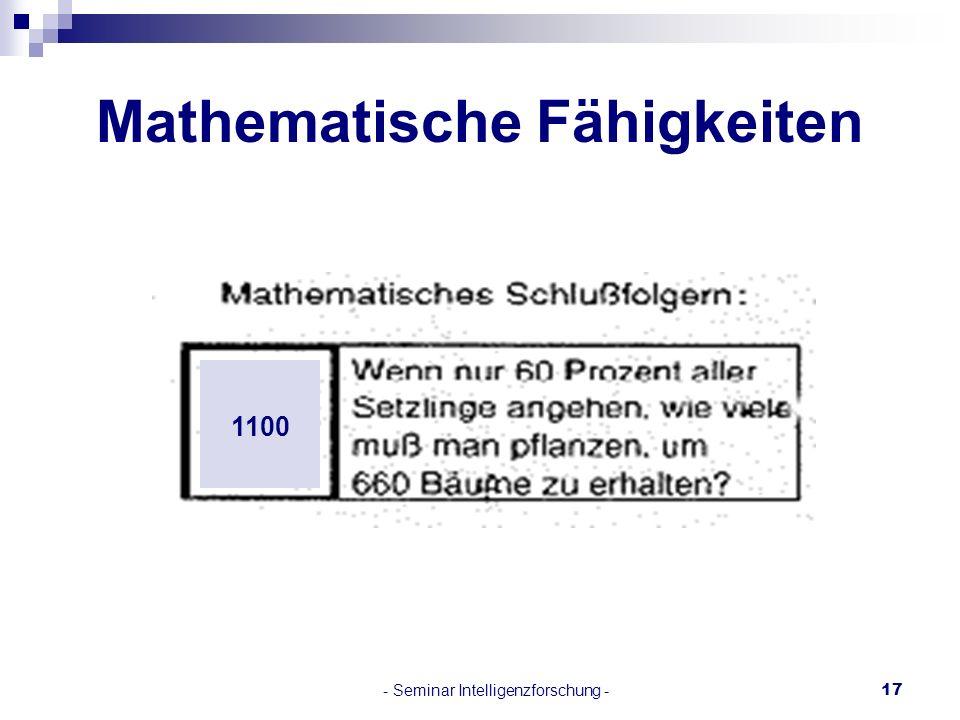 Mathematische Fähigkeiten