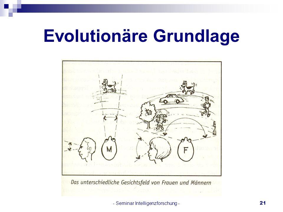 Evolutionäre Grundlage